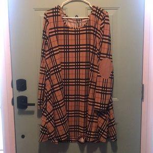 Dresses & Skirts - Plaid swing dress